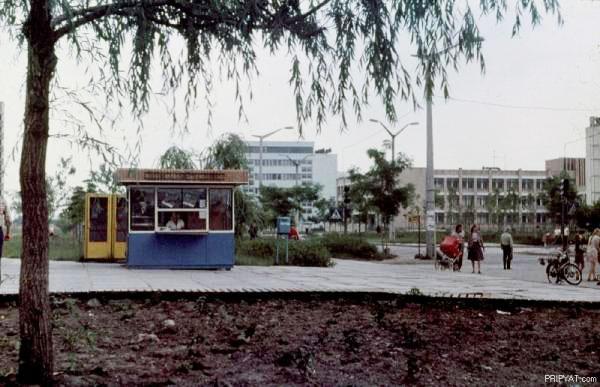 Gatebilde fra Pripyat før ulykken.