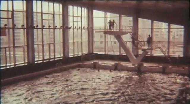Inne fra svømmehallen før katastrofen. Foto: Pripyat.com