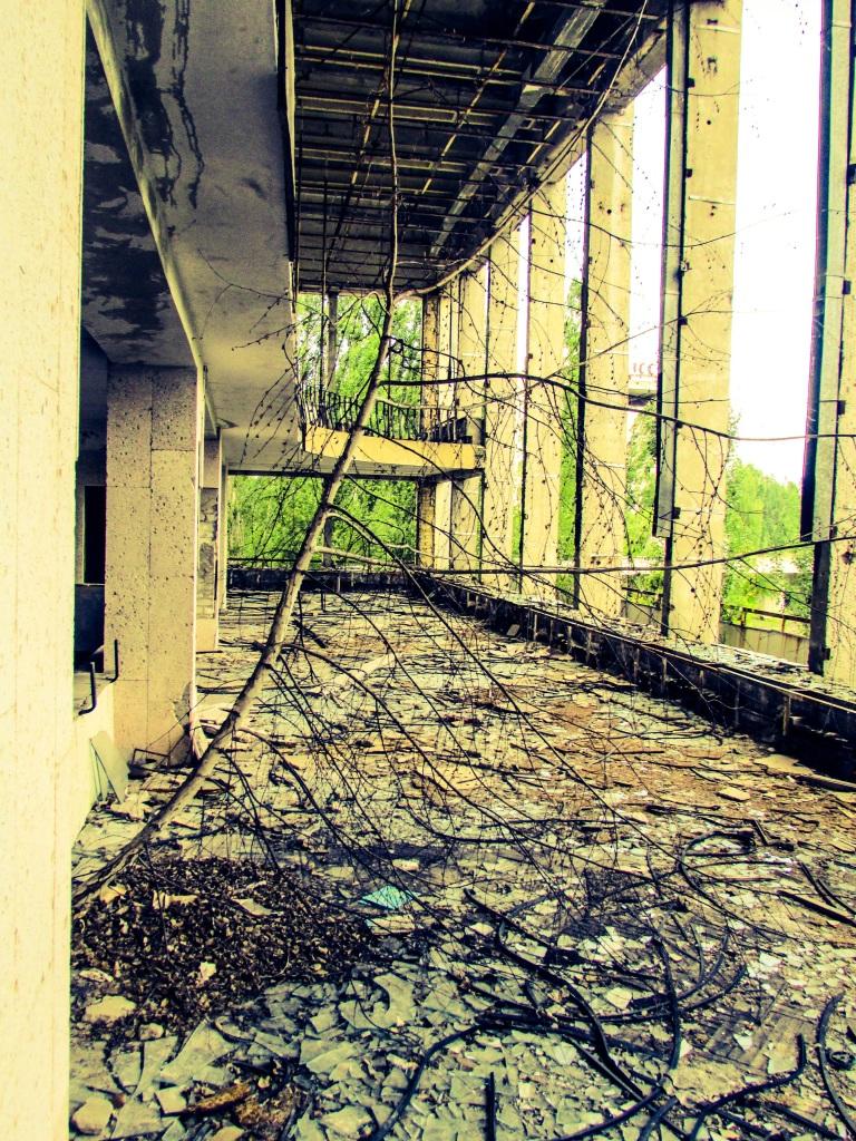 Terrassen utenfor diskoteket - her gikk de unge atomteknikere for å kline en gang for 30 år siden.