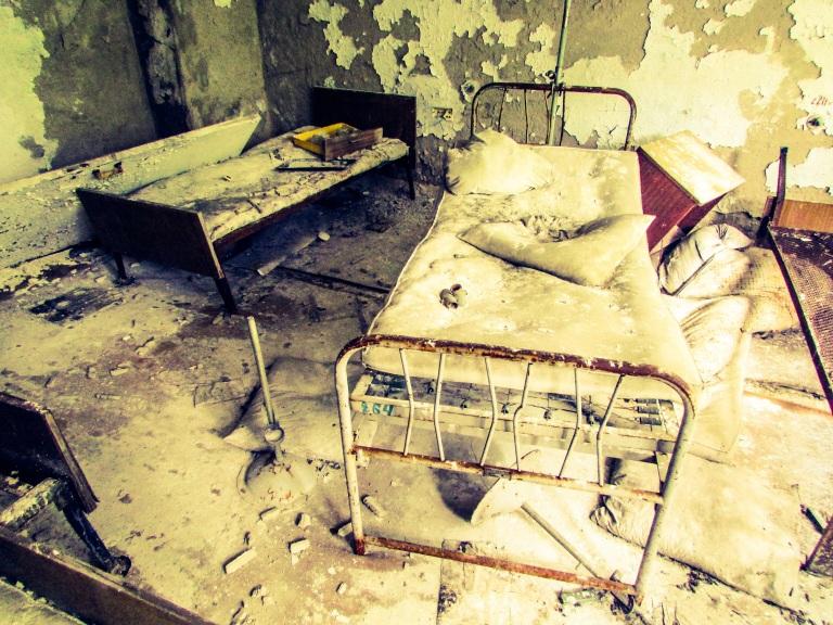 Et av sykerommene på Sykehus nummer 126.