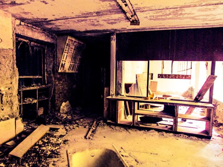 I sykehusets kjeller - ikke den radioaktive hadde de ansatte et samlingsrom.