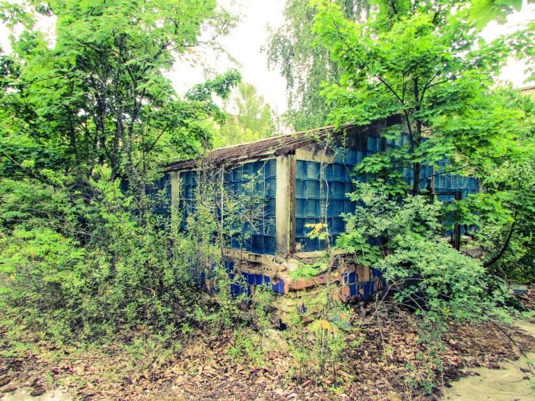 Et drivhus inne i byen.