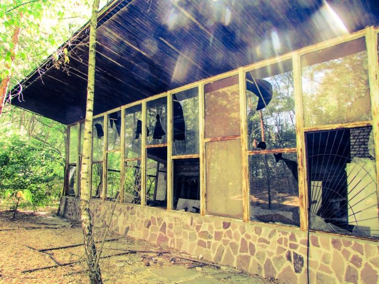 Kafe Pripyat fra bryggesiden.