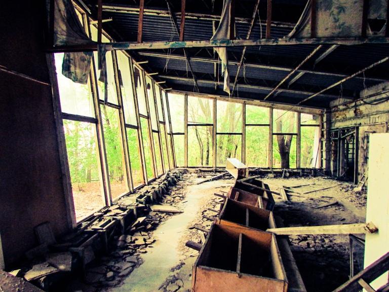 Inne i Kafe Pripyat.