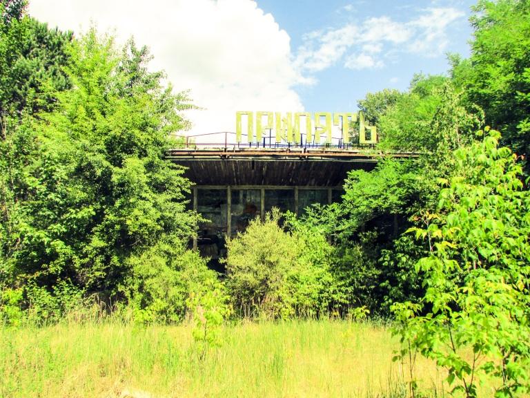 Kafe Pripyat fra baksiden.