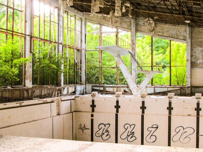 Svømmehallen i Pripyat.