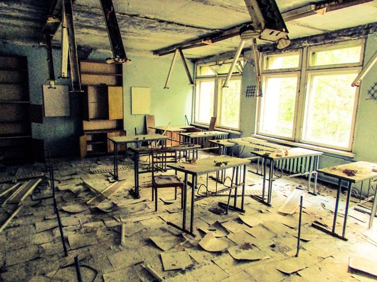 Klasserom på Skole nummer tre.
