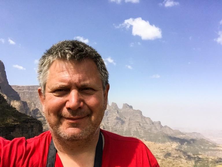 I Semien-fjellene i Etiopia.